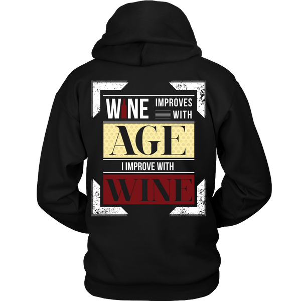 Wine Improves With Age (A),  I Improve With Wine (Back Design)
