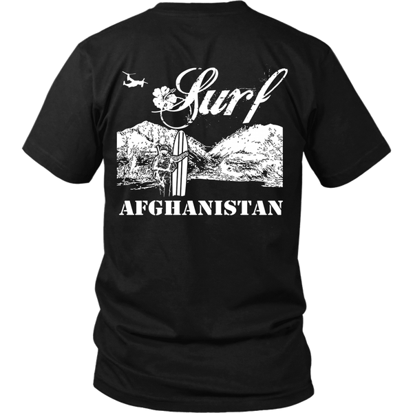 Surf Afghanistan - Back Design