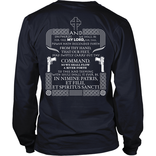 Boondock Saints Inspired - And Shepherds We Shall Be - Back Design
