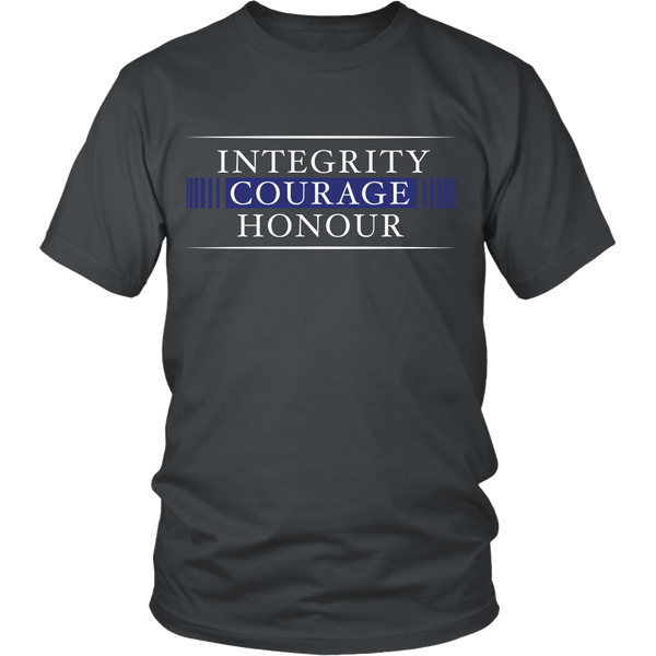 Police - (B) Integrity, Courage, Honor - Front Design