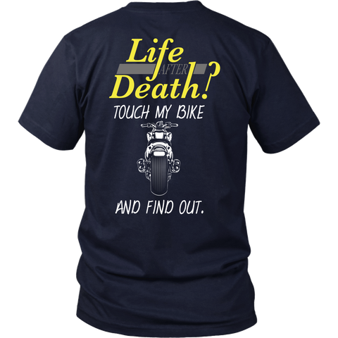 Motorcycle - Life After Death?  Touch My Bike And Find Out - Back Design