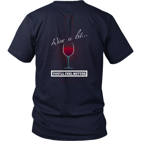 Wine - Wine A Bit, You'll Feel Better (A) Back Design