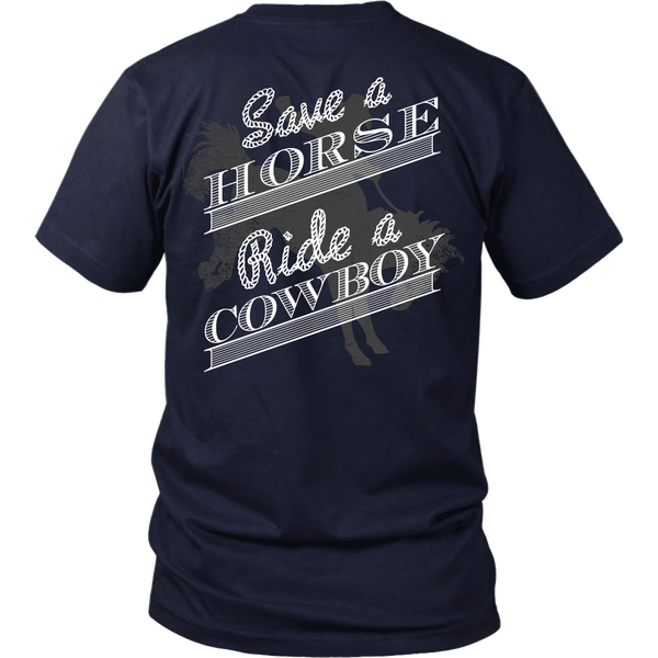 Country - Save A Horse, Ride A Cowboy - Back Design