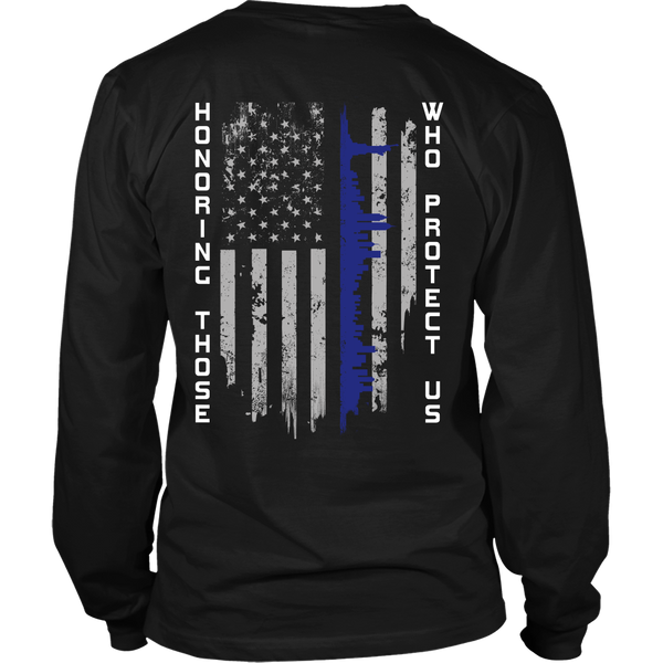 Police - Honoring Those Who Protect Us - Back Design