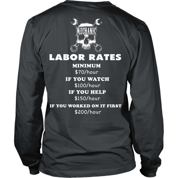Mechanic - Labor Rates - Back Design