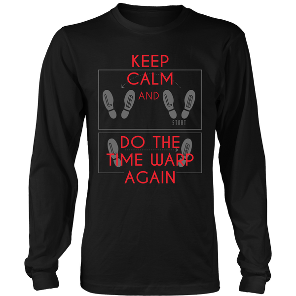 Rocky Horror - Keep Calm And do The Time Warp Again  - Front Design