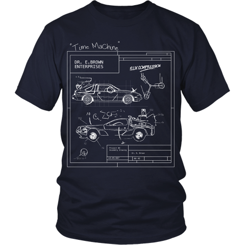 Back To The Future Inspired - Blueprint - Front Design