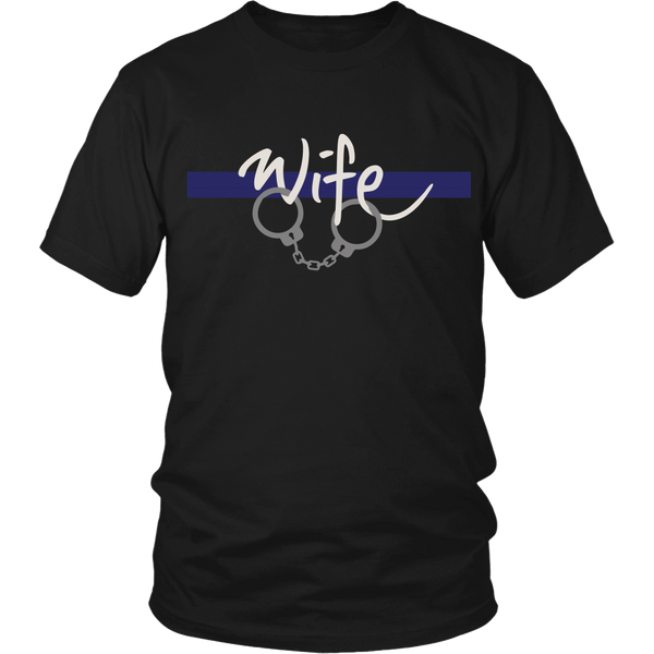 Police - Thin Blue Line Wife - Front Design