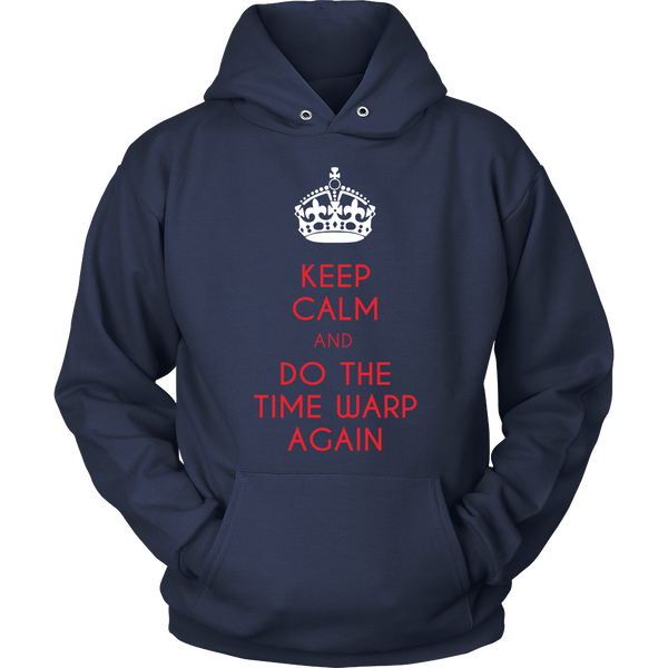 Rocky Horror Inspired - (Crown) Keep Calm And Do The Time Warp Again - Front Design