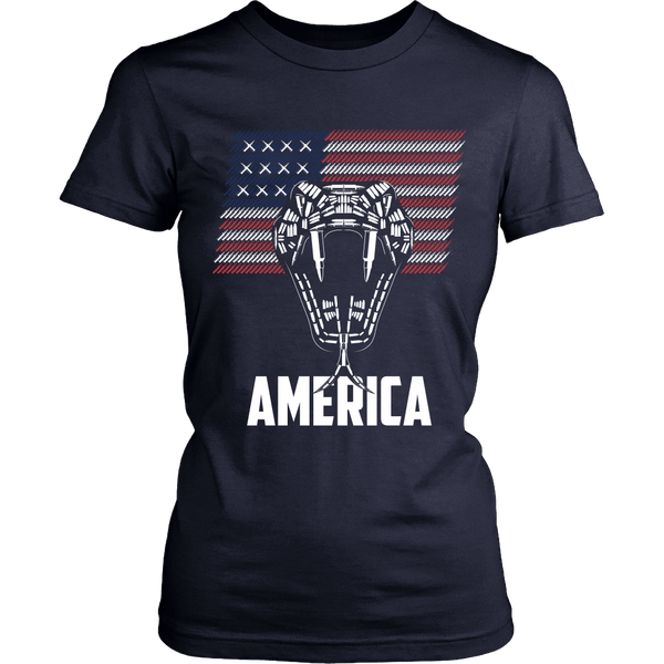 Bullet Viper and Flag (waving) - America - Front Design
