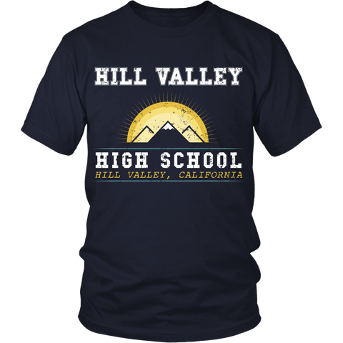 Back To The Future - Hill Valley High School - Front design