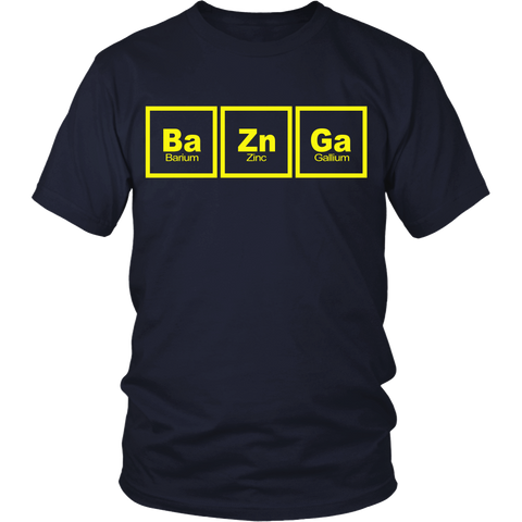 Big Bang Theory Inspired - Ba Zn Ga - Front Design