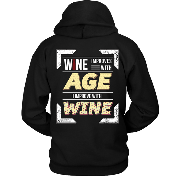 Wine - (b) Wine Improves With Age, I Improve With Wine - Back Design