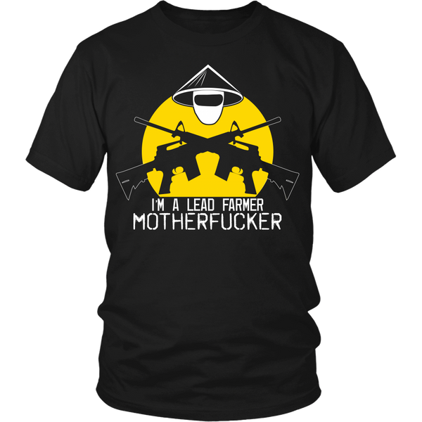 Tropic Thunder Inspired - I'm A Leadfarmer - (Mask Yellow) Front