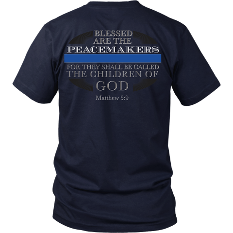Police Officers - Blessed Are The Peacemakers - Matthew 5:9 - Back Design