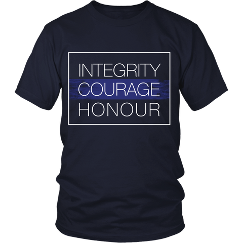 Police - Integrity, Courage, Honor - Front Design