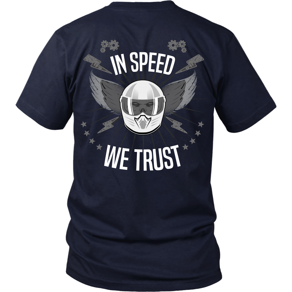 Racing - In Speed We Trust (B&W) - Back Design