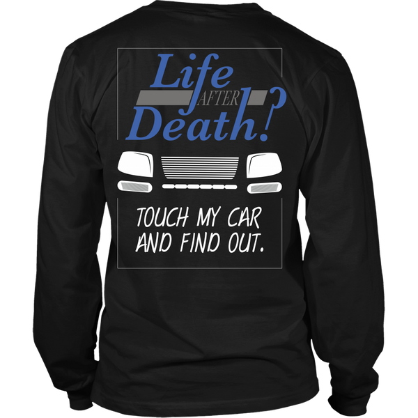 Car Lover - Life After Death?  Touch My Bike And Find Out - Back Design