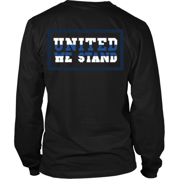 Police - Thin Blue Line - United We Stand - Back Design