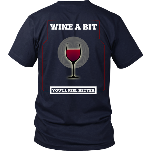 Wine - Wine A Bit, You'll Feel Better (B) Back Design