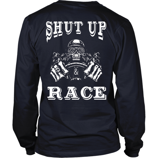 Racing - Shut up and Race - Back Design
