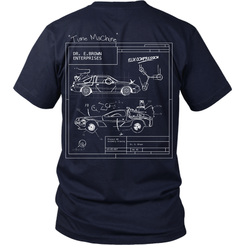 Back To The Future Inspired - Blueprint - Back Design