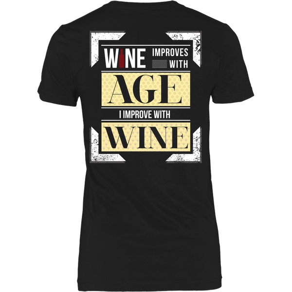 Wine Improves With Age (C),  I Improve With Wine (Back Design)