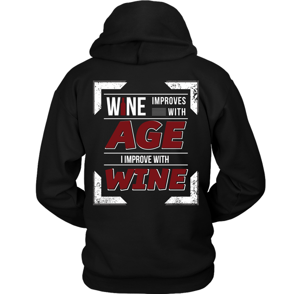 Wine Improves With Age (D),  I Improve With Wine (Back Design)