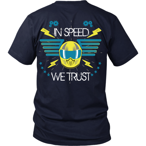 Racing - In Speed We Trust  - Back Design