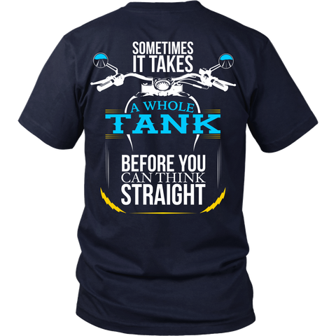 Sometimes it takes a whole tank before you can think straight - Back Design
