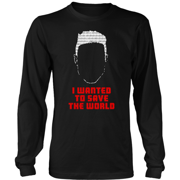 Mr Robot Inspired - I Just Wanted To Save The World - Front Design