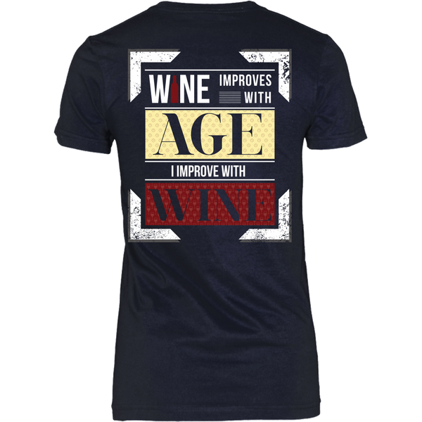 Wine Improves With Age (B),  I Improve With Wine (Back Design)