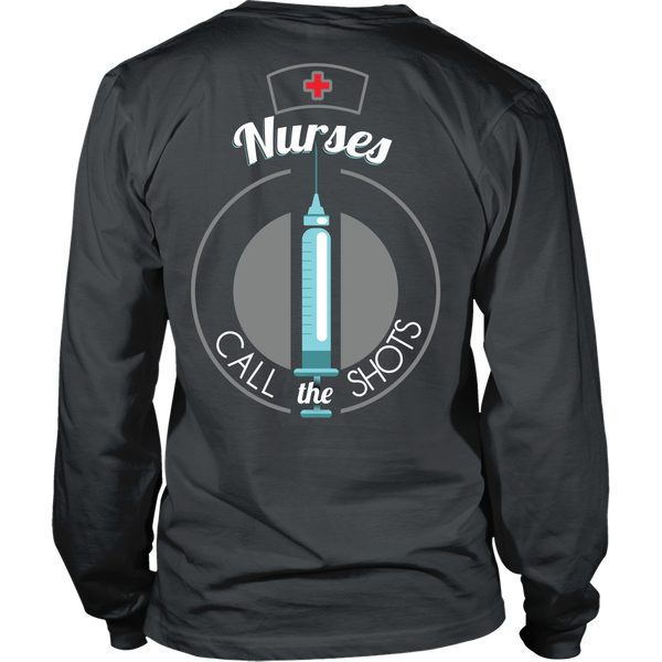 Nurse - Nurses Call The Shots - Back Design