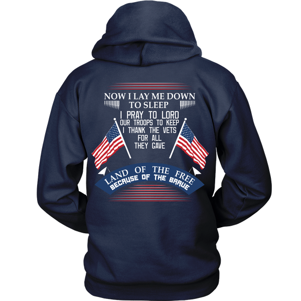 Veteran Thank You - Land Of The Free Because Of The Brave - Back Design