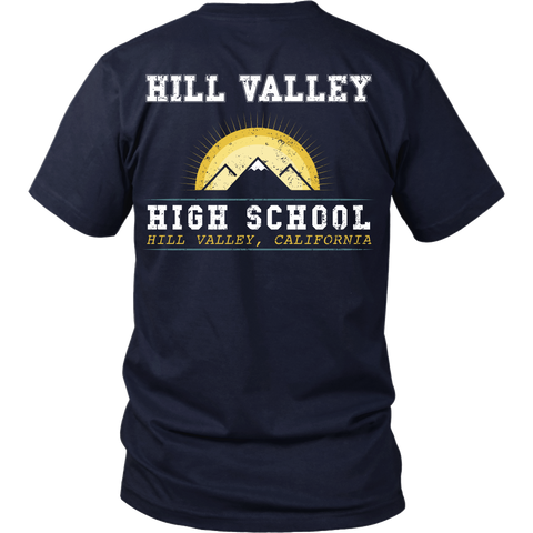 Back To The Future - Hill Valley High School - Back Design
