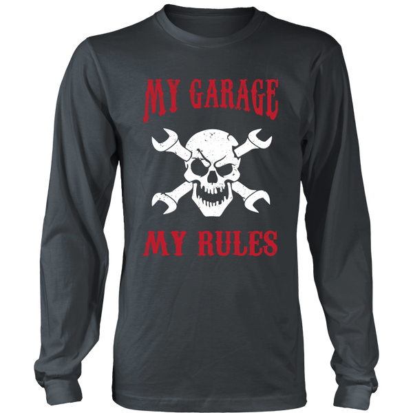 Mechanic Shirt (Skull) - My Garage My Rules - Front Design