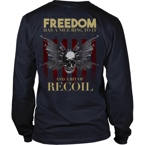 Freedom Has A Little Recoil (Gold) - Back Design