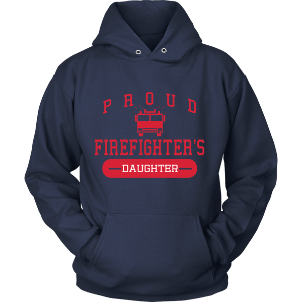 Proud Firefighters Daughter - Front design