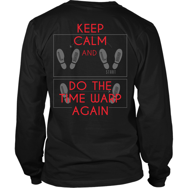 Rocky Horror - Keep Calm And do The Time Warp Again  - Back Design