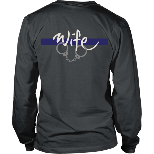 Police - Thin Blue Line Wife - Back Design