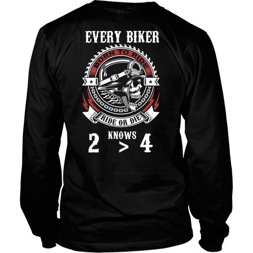 T-shirt - 2 Wheels Are Greater Than 4 Motorcycle Rider Tee Shirt