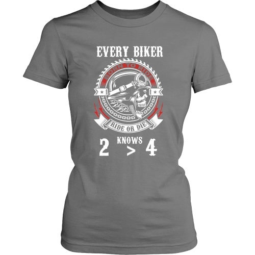 T-shirt - 2 Wheels Are Greater Than 4 - Front