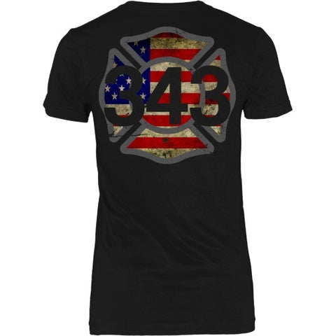 T-shirt - 343 Rembered - 9/11 - Back