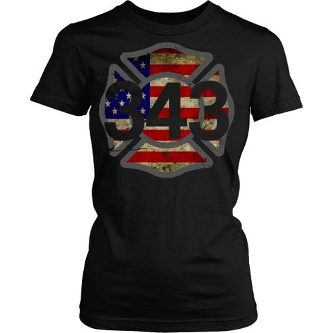 T-shirt - 343 Remembered - Front Design