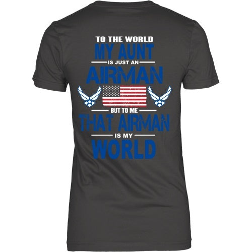 T-shirt - AIRFORCE - Aunt Is My World - Back Design