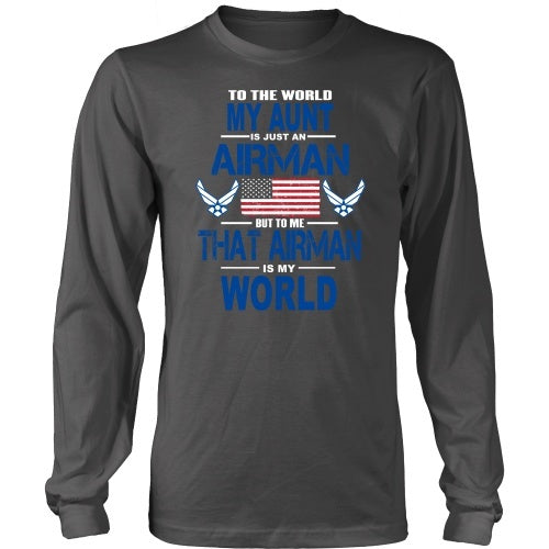 T-shirt - AIRFORCE - Aunt Is My World - Front Design
