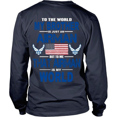 T-shirt - AIRFORCE - Brother Is My World - Back Design