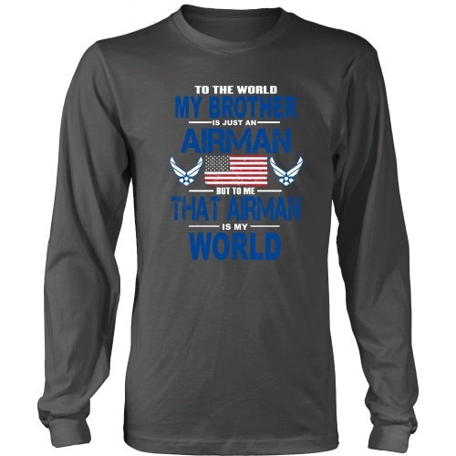T-shirt - AIRFORCE - Brother Is My World - Front Design