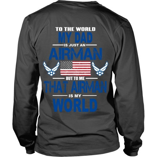 T-shirt - AIRFORCE - Dad Is My World - Back Design