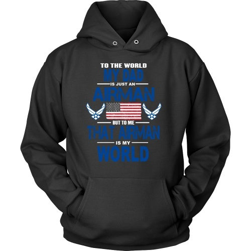 T-shirt - AIRFORCE - Dad Is My World - Front Design